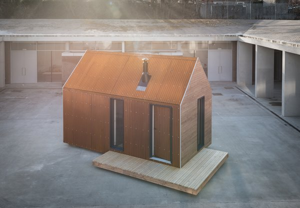 The bothy was designed as low-impact architecture, meant to enhance the experience of spending time in nature.