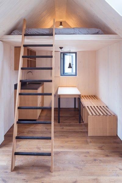 An internal mezzanine is an ideal sleeping space.