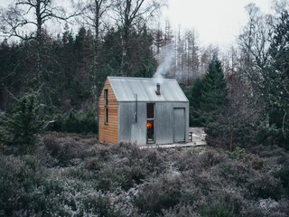 The Inshriach Bothy sits in a clearing in Cairngorms National Park in Northeast Scotland.