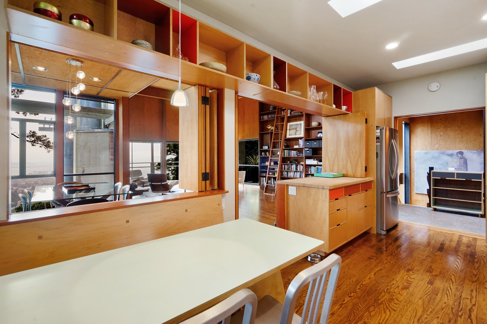 The kitchen has been modernizing it in a period-appropriate manner and includes plenty of well-designed storage space.