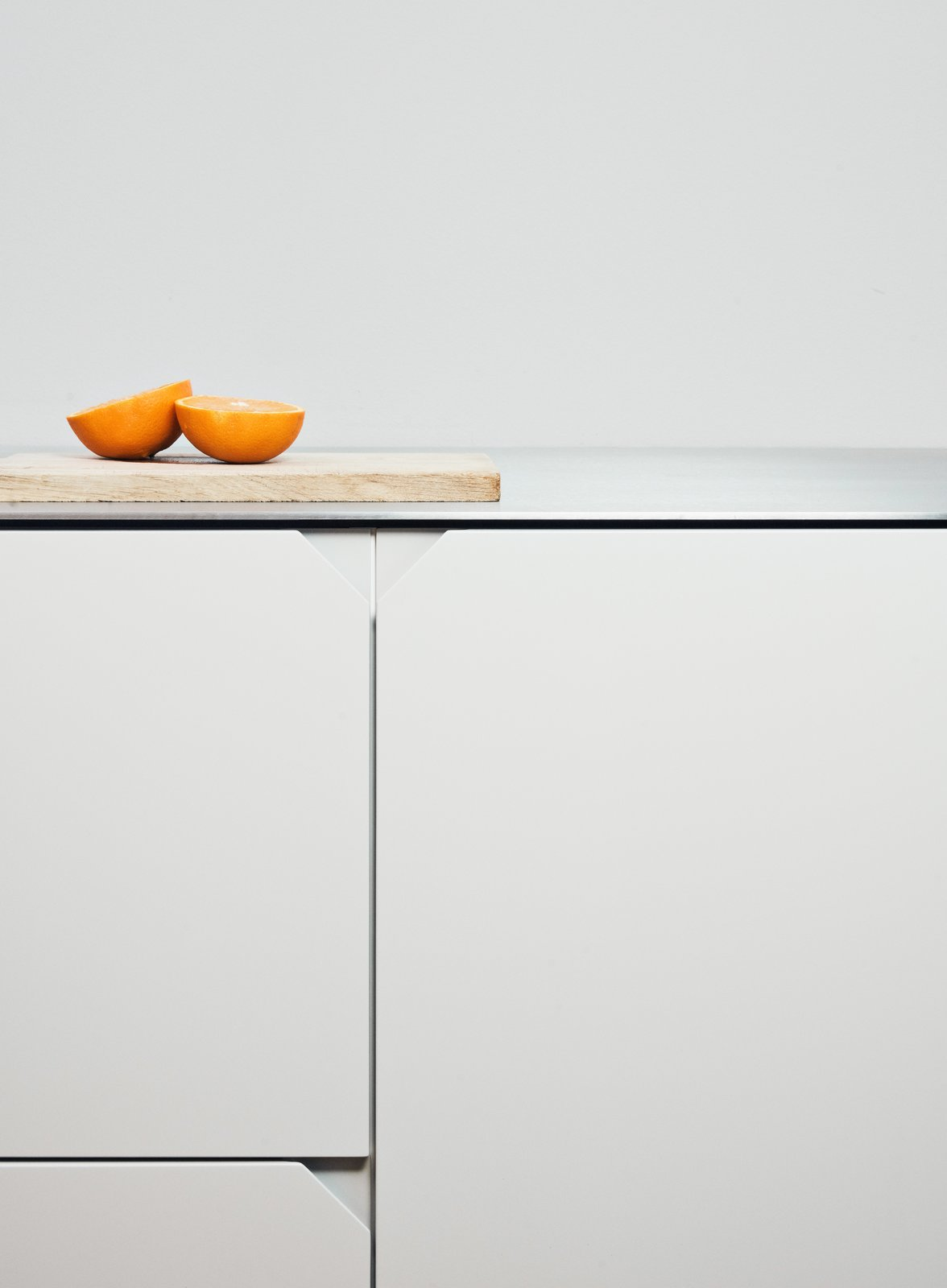 Kitchen and Metal Counter  Photo 8 of 9 in Here's How You Can Give Your IKEA Kitchen a Fresh Face on a Tight Budget