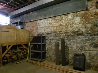 The unfinished cellar before the renovation.