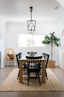 The dining room leads to a spacious kitchen.