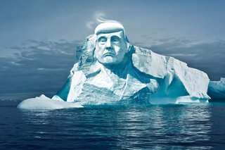 """""""Global warming is one of the most important issues and topics of today,"""" says Nicolas Prieto, chairman of Melting Ice, the association behind Project Trumpmore. """"There are still people who ponder whether it's a real issue. We want to build the monument for all of us, so we can see how long the sculpture lasts before melting. Often people only believe something when they see it with their own eyes."""""""