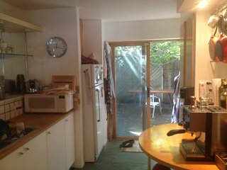 Before: As you can see, the layout of the compact kitchen space before the renovation was extremely restricting.