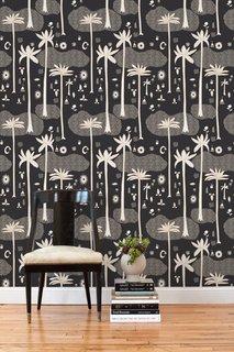 One of Justina Blakeney's design for Hygge & West Cosmic Desert Tiles in black.