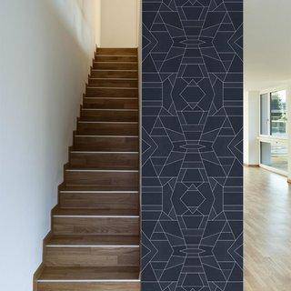 This Geo Blue design was created by Elisabeth Fredricksson.