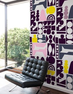 The NCC Pink Mountain Wall Panels have been designed by the London-based visual design agency NeasdenControl Centre.
