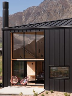 The profile is also a referenceto rural sheds common throughout the countryside, and features Colorsteel roofing on both the roof and siding.
