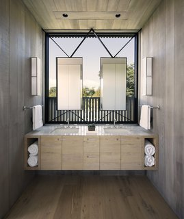 The interior design and finishes echo the exteriors of the home.