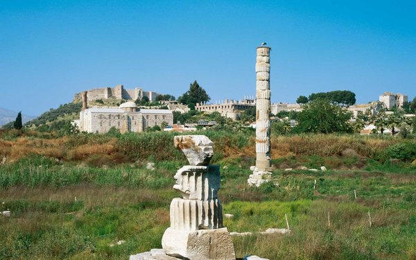The site's theater, acropolis, fortification walls, and necropolis are a Grade 1 archaeological site dating back to the first century B.C. In fact, Greek mythology says the city was founded in honor of Bargylos, who was killed when he was kicked by the winged horse Pegasus.