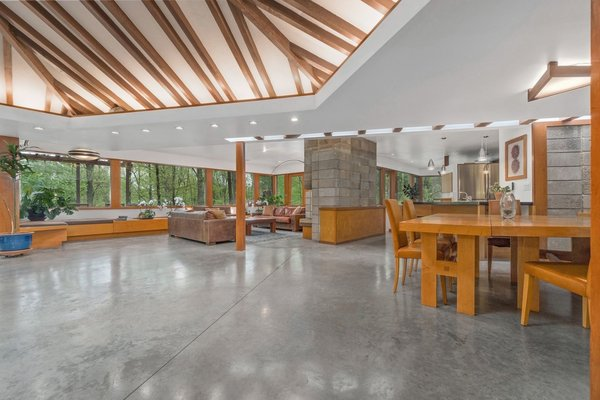 The renovation also included adding cement floors with radiant heat throughout the home.
