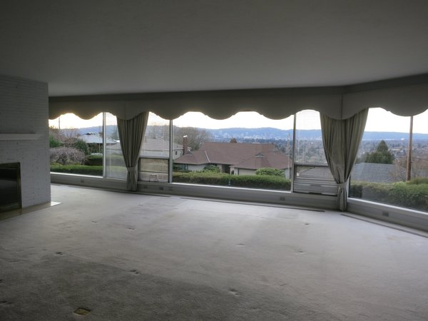 The flat, low ceilings severely compromised the views.