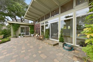 The spacious patio is conducive to indoor/outdoor living.