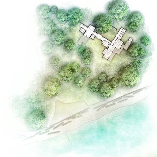 Cabin at Longbranch site plan