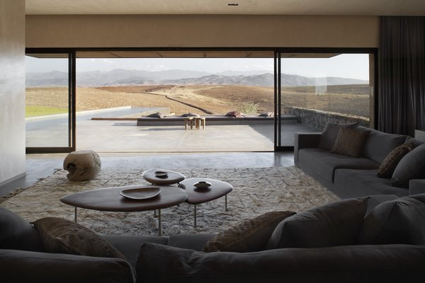 Villa K enjoys stunning views of the nearby Atlas Mountains.