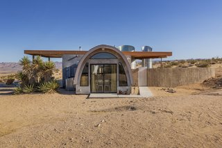 This dreamy one-bedroom cabin sits on 45 acres of remote land in Joshua Tree.