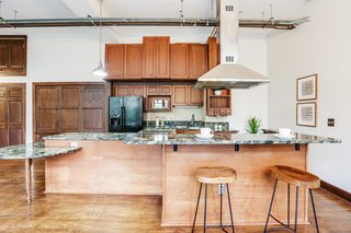 A look at the large kitchen.