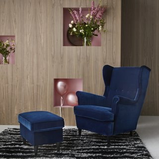 The STRANDMON armchair was a favorite of IKEA founder Ingvar Kamprad. Now, it will be relaunched in a new color.
