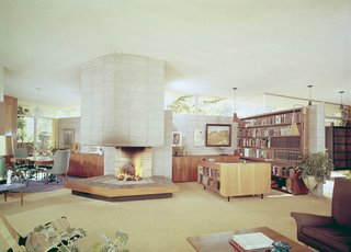 This image shows how the home has maintained its original charm and how a midcentury purist could easily restore the property.