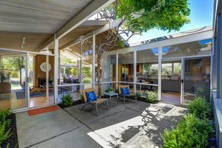 The central atrium is a popular, defining design feature of all Eichler homes.