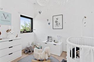 The nursery has a strong Scandinavian feel.