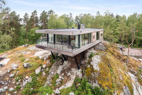 Picture Yourself  in This Clifftop Swedish Retreat Asking $1.08M