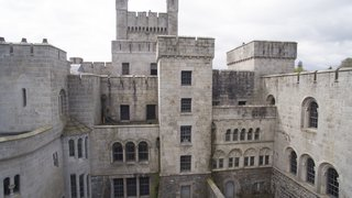 The portion of the castle which is now on the market could be converted into six apartments, some with rooftop gardens.