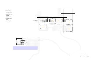 The Hill House Ground-Level Floor Plan.