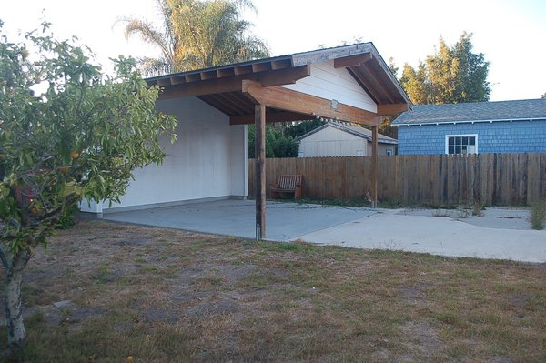 Here is the carport before the renovation.