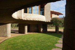 A look at the circular courtyards.