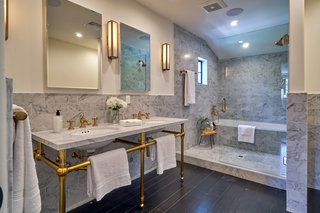 A look into the master bath.