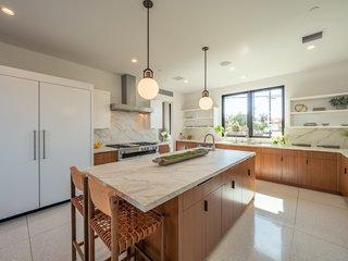 The chef's kitchen was designed by local celebrity chef Pamela Salzman.