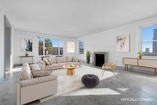 The light-filled living room.