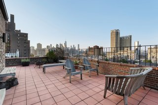 The terrace also features killer New York City views.