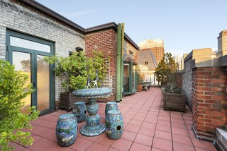 The terrace provides ample room for outdoor entertaining.