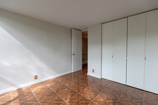 Built-in closets are featured in each of the bedrooms.