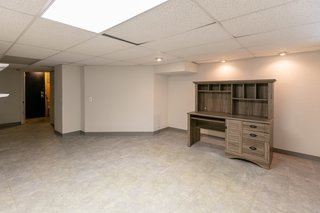 A look at the partially-finished basement.