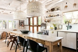 Theopen kitchen is perfect for casual entertaining.