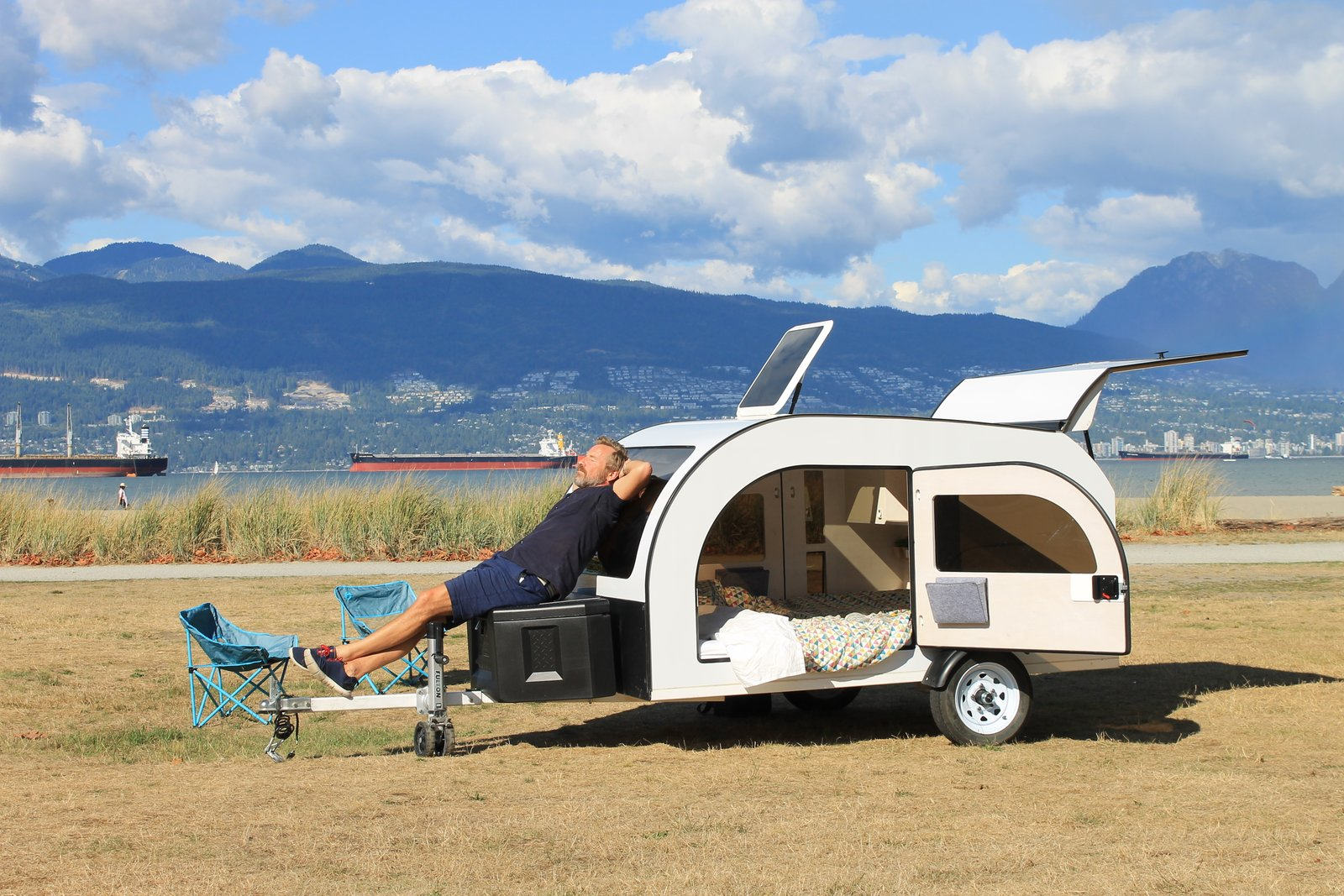 This Tiny Teardrop-Shaped Trailer Is Ready For Big Adventures