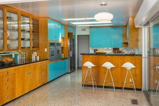 Although the kitchen has been updated for modern living, it still maintains an authentic midcentury sense of style.