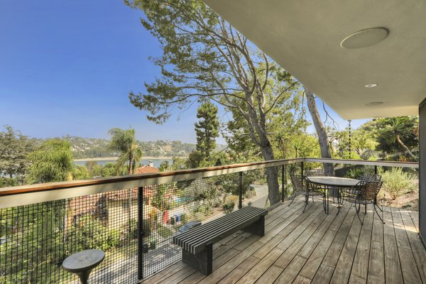 The terrace off the main living room features spectacular views of the surroundings.