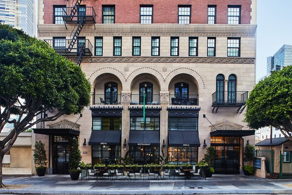 Hotel Figueroa is located in the evolving South Park district of downtown Los Angeles.