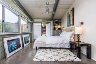 This bedroom also has a door leading directly outside.