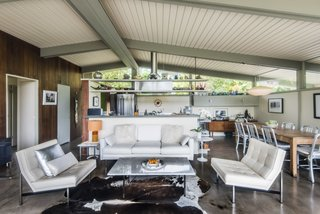 Inside, the home features a bright and airy open-plan layout.