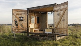This Tiny Studio Made of Reclaimed Wood Could Be Yours For $38K