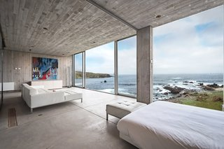 A wall of glass provides unbelievable views of the surroundings.