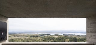 The concrete form perfectly frames the spectacular surroundings while allowing for natural ventilation and illumination.