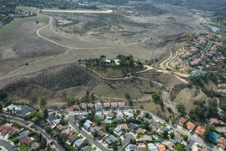 An aerial view of Byrdview reveals its perch on seven acres overlooking the valley below.