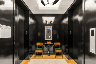 The 36th-floor condo has a private elevator that opens to an elegant landing.